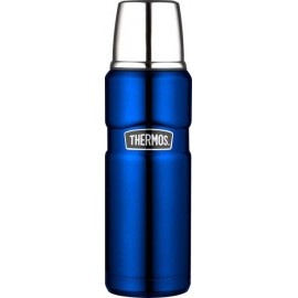 Thermos King Stainless Steel Flask - 470ml - Metalic Blue