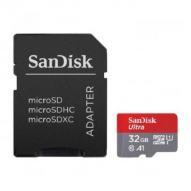 Карта памяти SanDisk 32 GB microSDHC UHS-I Ultra A1 + SD Adapter SDSQUAR-032G-GN6IA