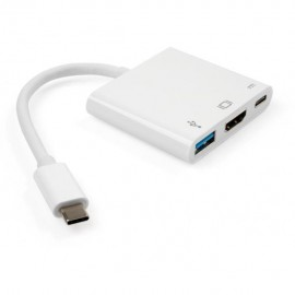 Концентратор Vinga Type-C to HDMI+USB3.0+Type-C PD (VCPATC2HDMIUSBPDWH)